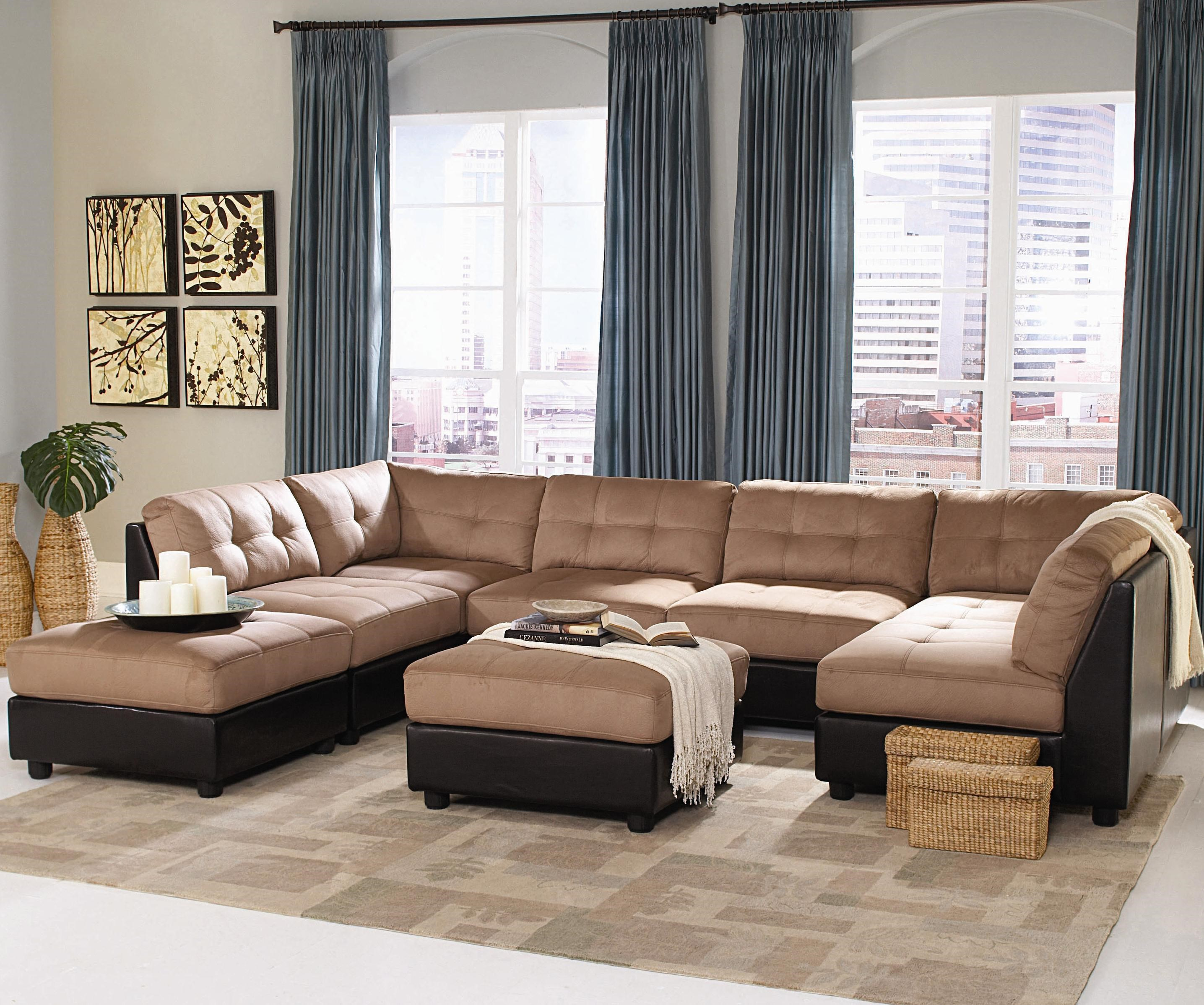 Coaster Claude Contemporary Two Tone Sectional Sofa