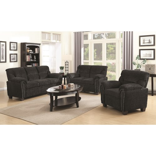 Coaster Clemintine by Coaster Stationary Living Room Group