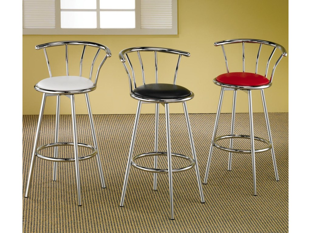 Coaster ClevelandChrome Plated Bar Stool