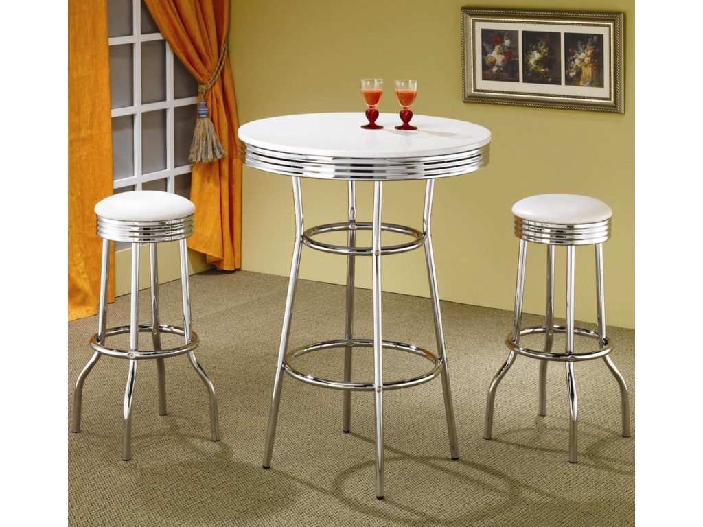 Coaster ClevelandSoda Fountain Bar Stool
