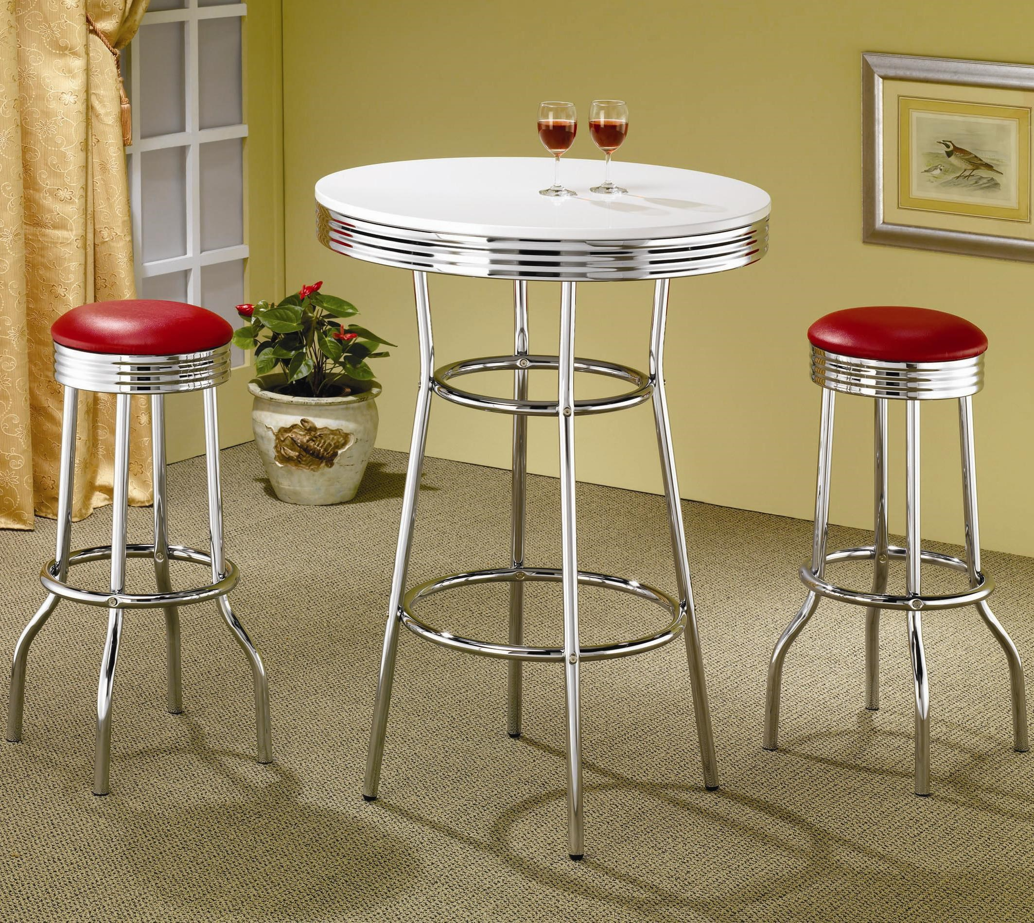 Cleveland 3 Piece Chrome Plated Bar Set By Coaster