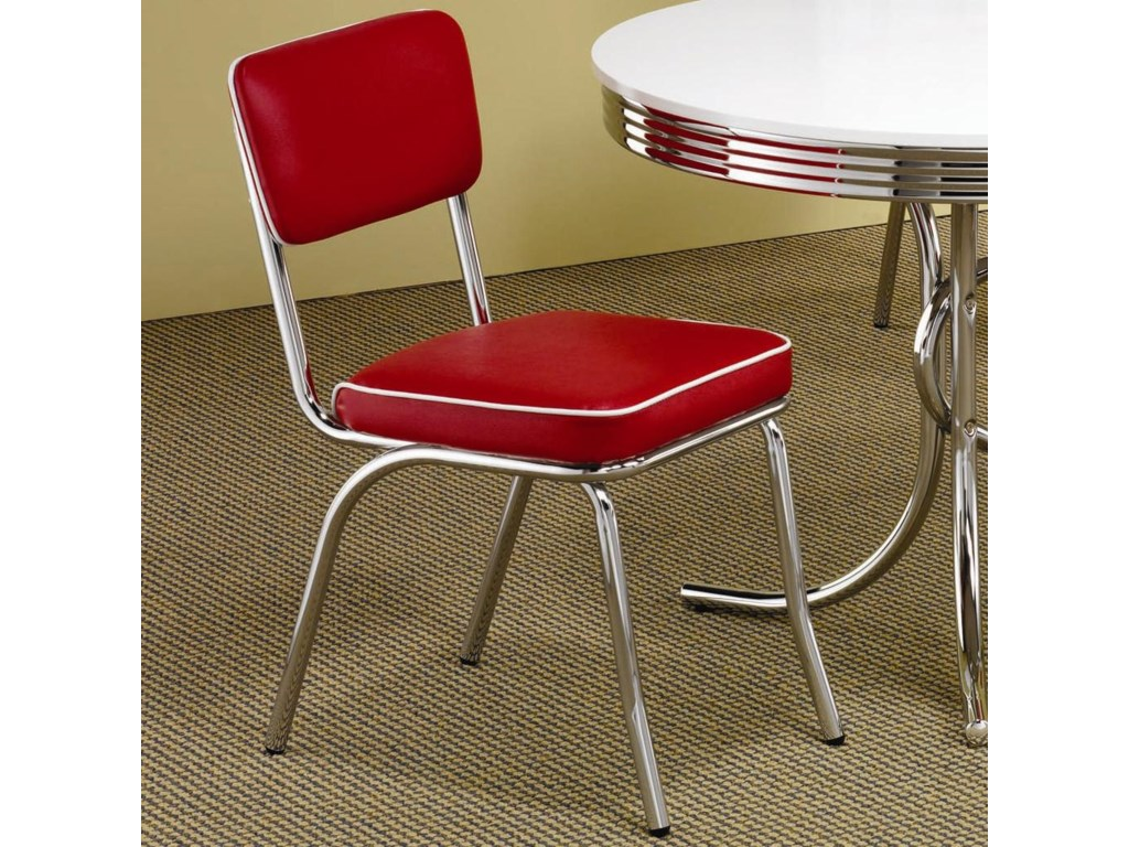 Coaster ClevelandChrome Plated Side Chair