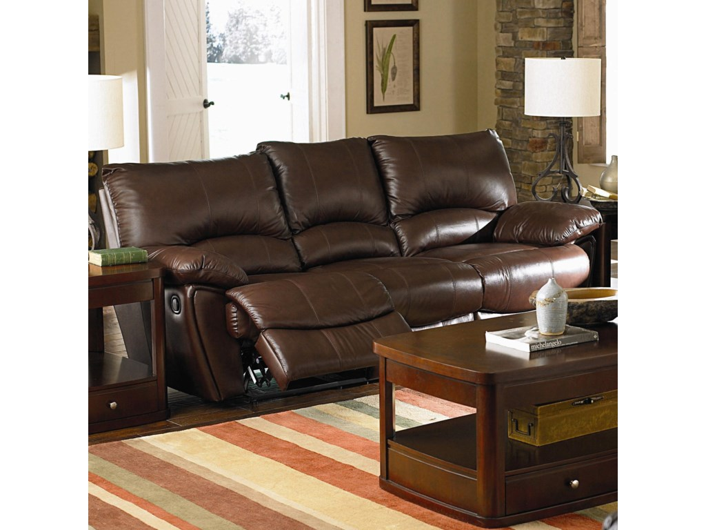 Coaster Clifford 600281P Brown Leather Double Power Reclining Sofa ...