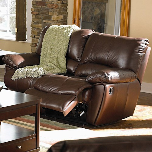 Coaster Clifford Brown Leather Double Reclining Love Seat