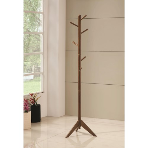 Coaster Coat Racks Coat Rack with Six Pegs