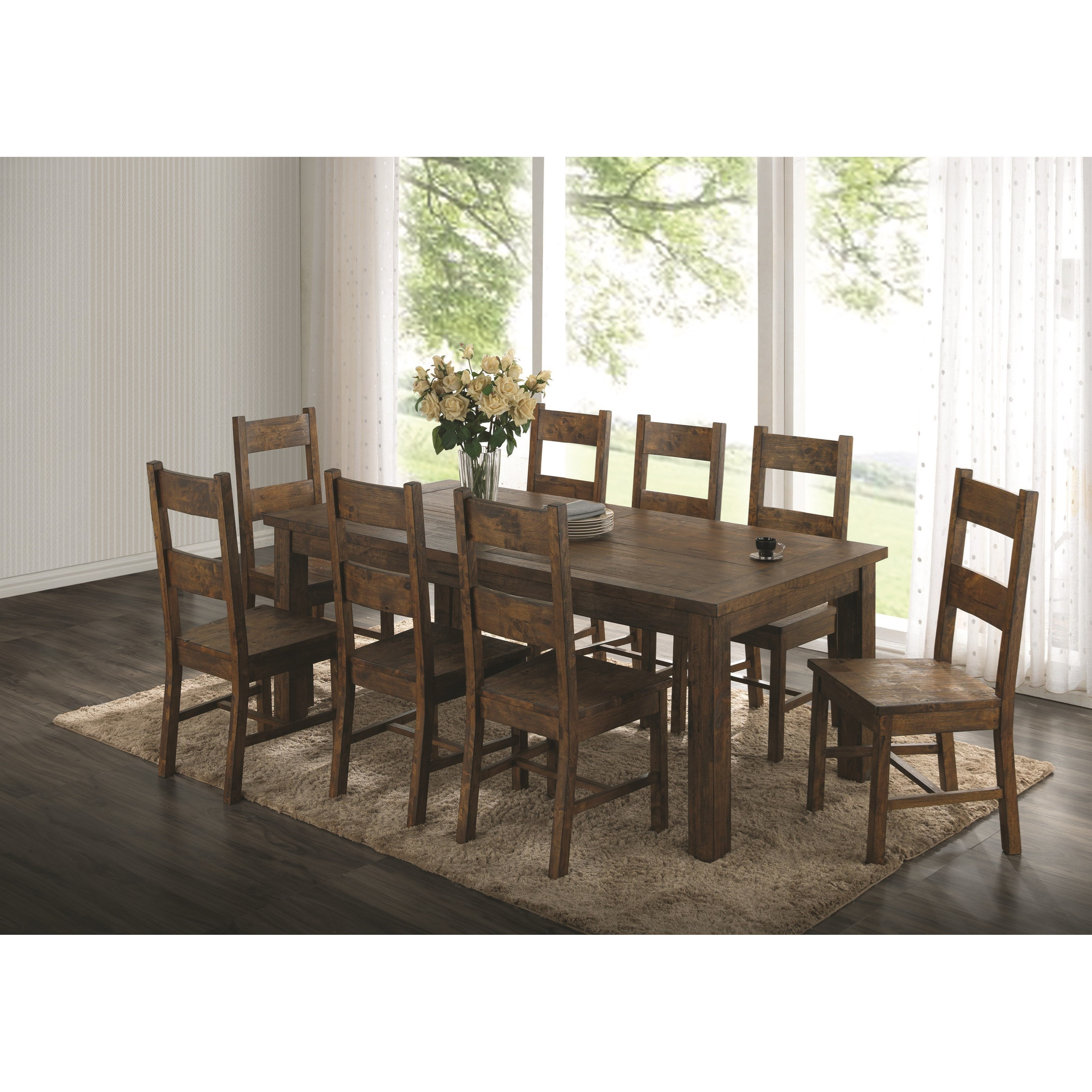 Coaster Coleman Rustic Table And Chair Set