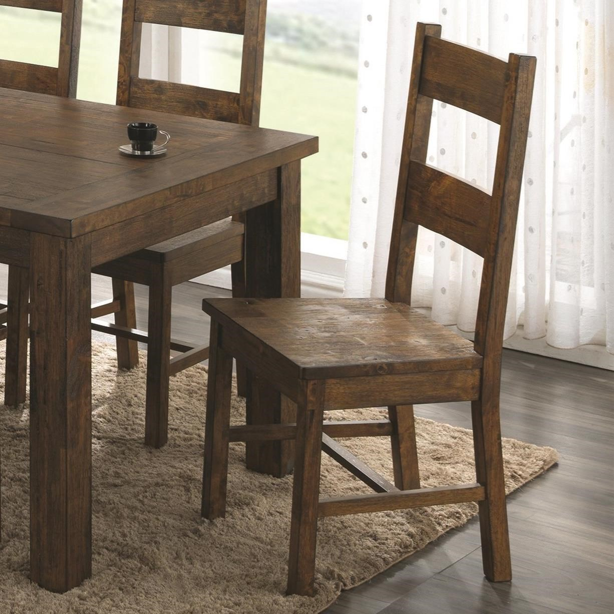 Coaster Coleman Wooden Dining Chair with Rustic Finish & Coaster Coleman Wooden Dining Chair with Rustic Finish | A1 ...