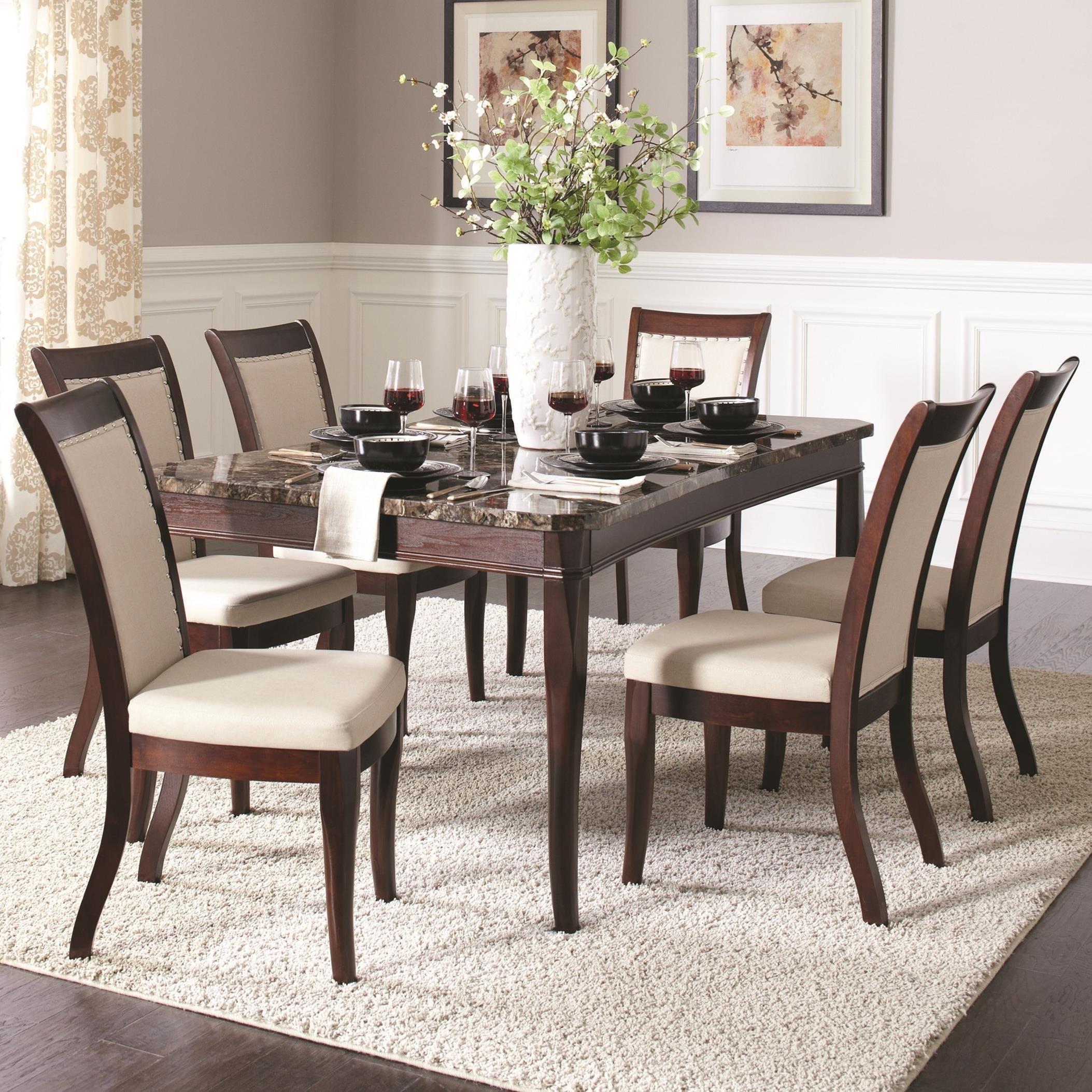 Delightful Coaster Cornett 7 Piece Dining Set | Dunk U0026 Bright Furniture | Dining 7 (or  More) Piece Sets