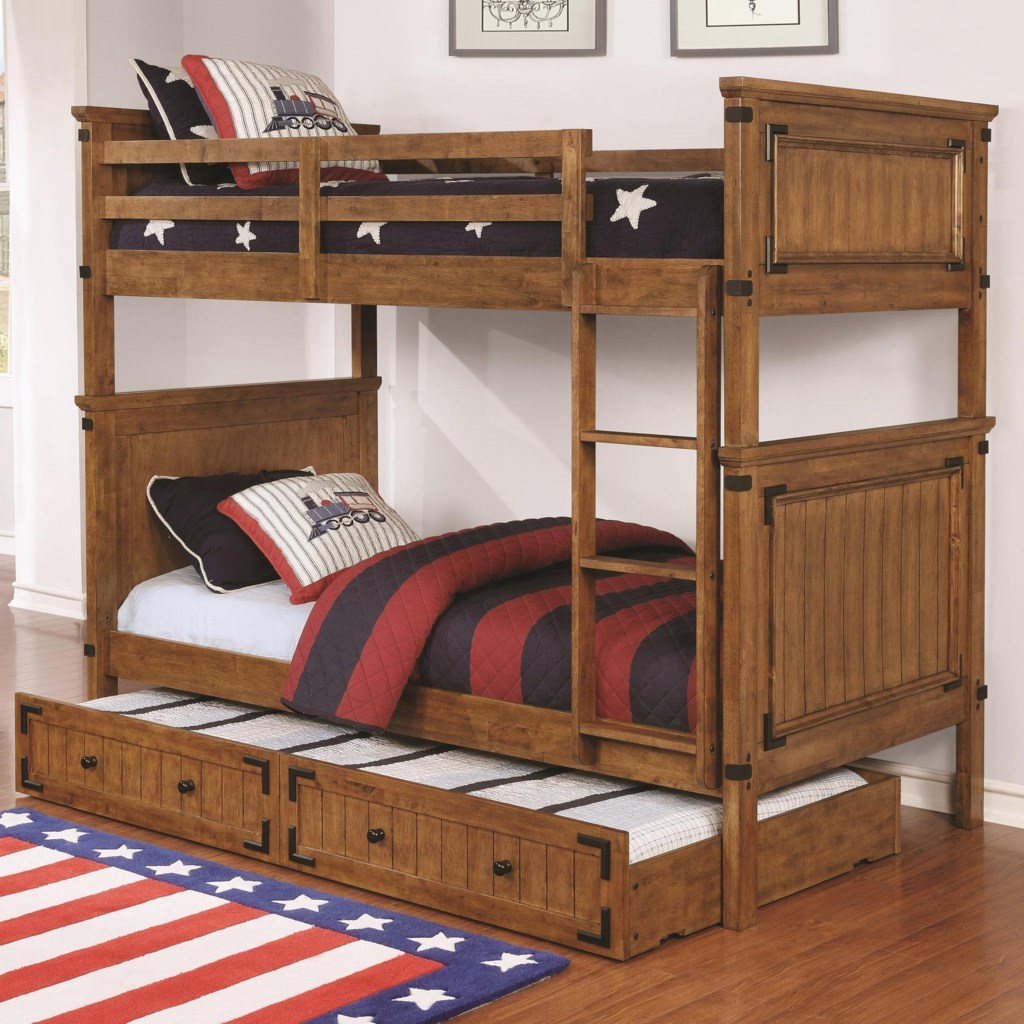 Coaster Coronado Bunk Bed Casual Wooden Twin Over Twin Bunk Bed With