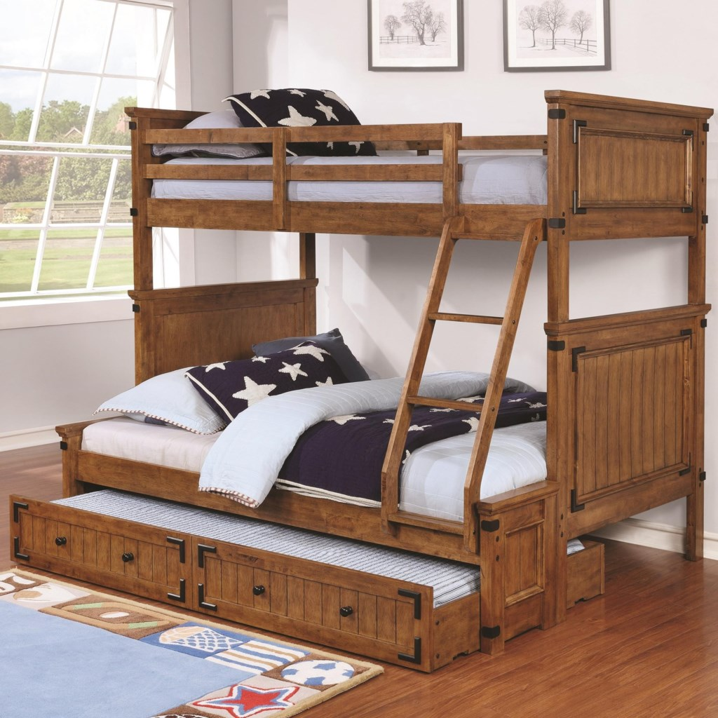 Coaster Coronado Bunk Bed Casual Wooden Twin Over Full Bunk Bed With