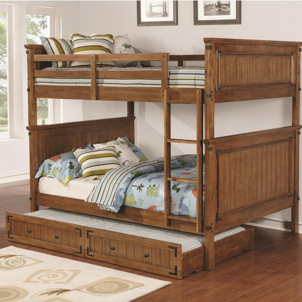 Coaster Coronado Bunk Bed Casual Wooden Full Over Full Bunk Bed With