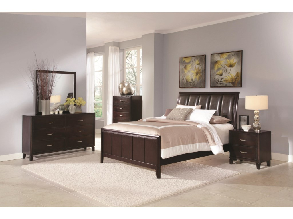 Shown with Dresser and Mirror, Chest of Drawers, and Sleigh Bed