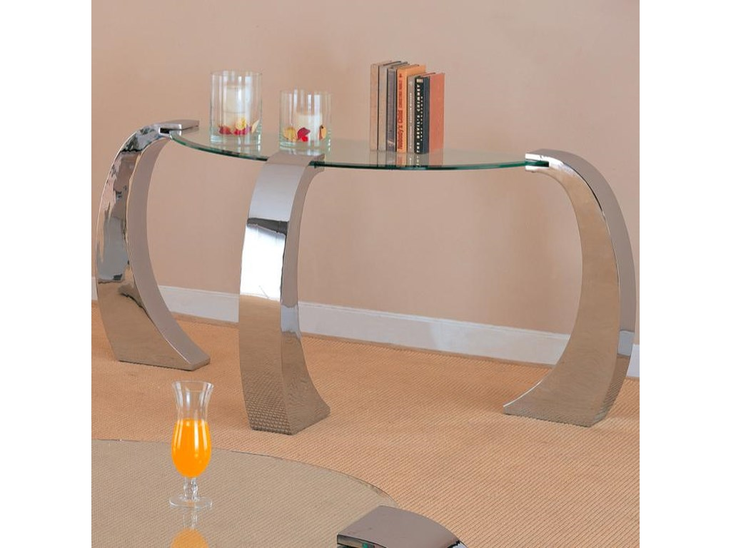 Coaster Custer Contemporary Sofa Table with Metal Base and Curved ...