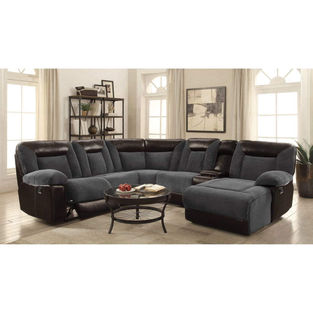 Coaster Cybele Plush Two-Tone Sectional - Miskelly Furniture - Sectional  Sofas