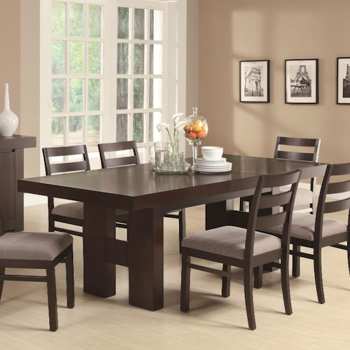 Coaster Dabny Dining Table with Pull Out Extension | Aladdin Home ...