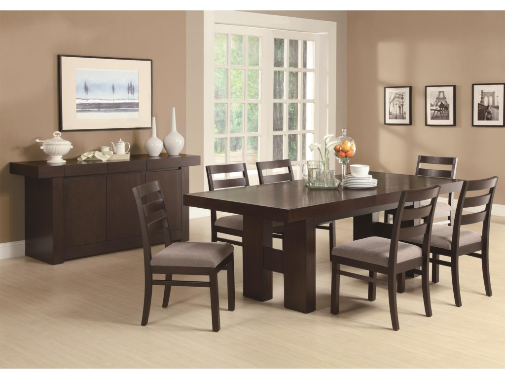 Shown as Part of Dining Table Set with Server