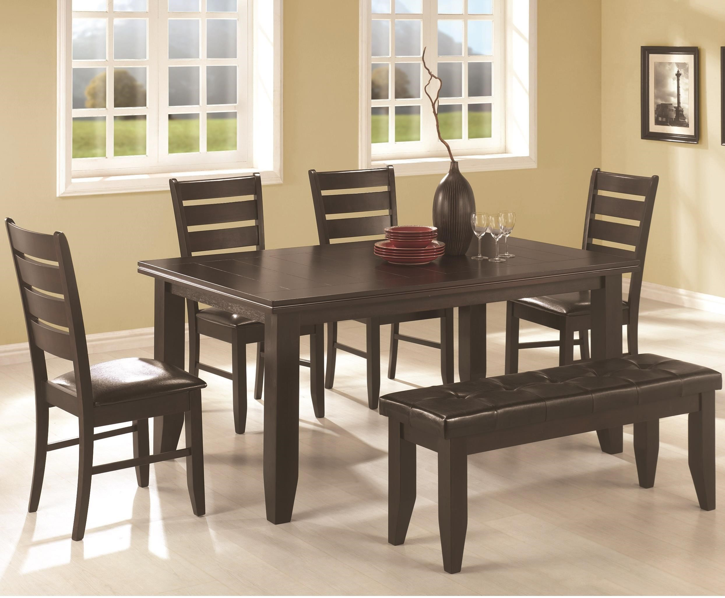 Dalila Casual Dining Set With Bench By Coaster