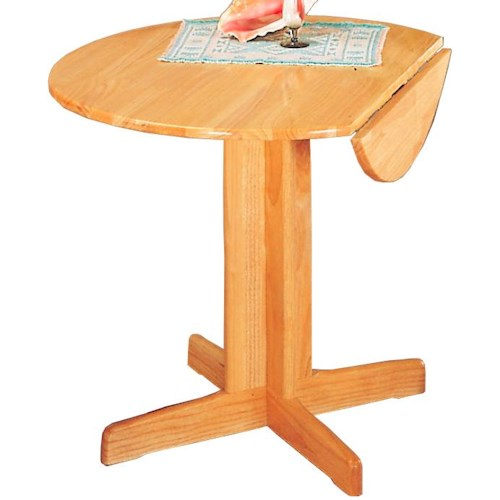 Coaster Damen Round Pedestal Table with Leaf