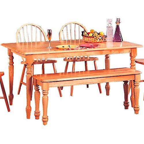 Coaster Damen Rectangle Leg Dining Table