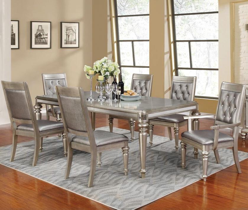 Superbe Coaster Danette Rectangular Dining Table Set With Leaf