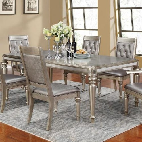 Coaster Danette Rectangular Dining Table with Leaf
