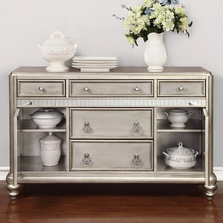 Incroyable Coaster Danette Dining Server With Metallic Finish