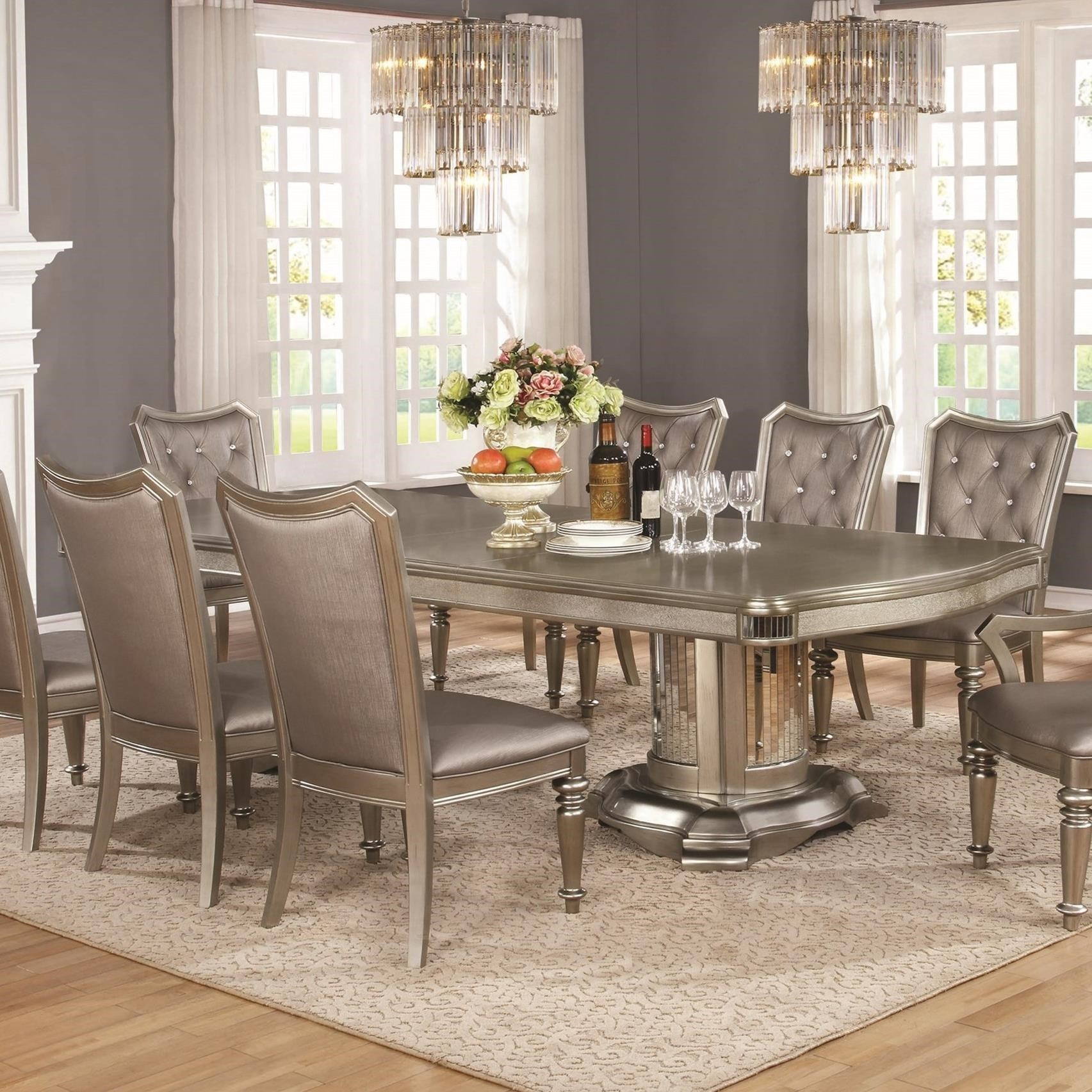 pedestal dining room table. Coaster DanetteDouble Pedestal Dining Table Room A