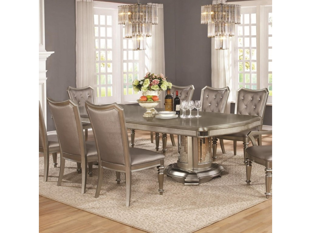 Coaster danettedouble pedestal dining table