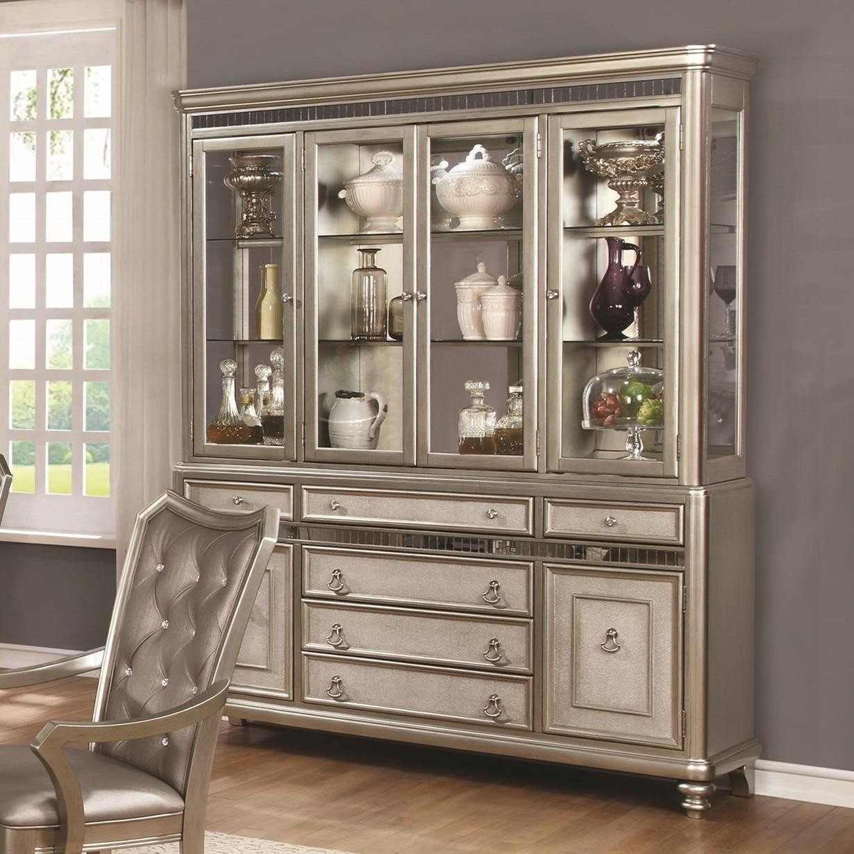 Coaster Danette Server and China Cabinet with LED Lighting - Value ...