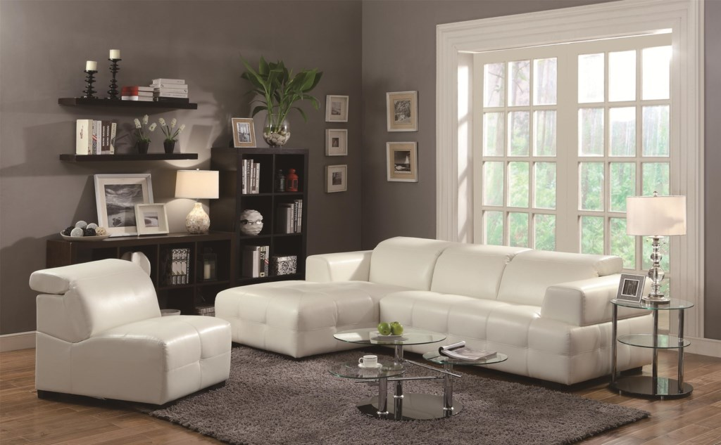Coaster Darby 503617 Contemporary Sectional Sofa With Wide Chaise  # Muebles Coaster