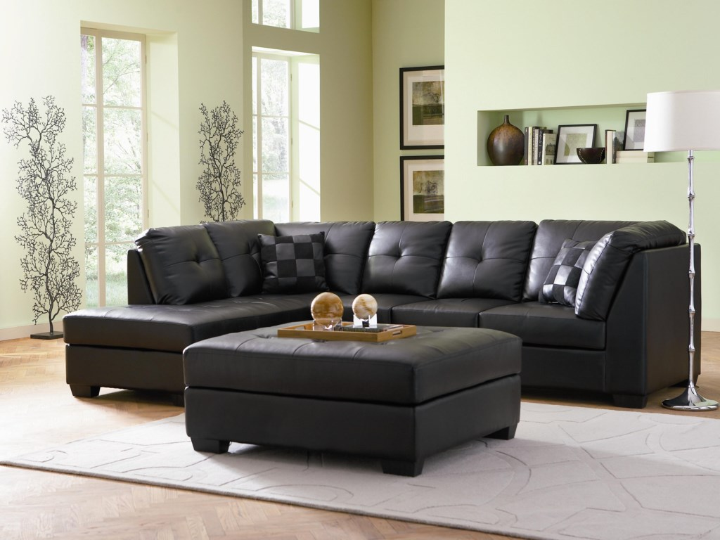 Coaster Darie Leather Sectional Sofa With Left Side Chaise Value