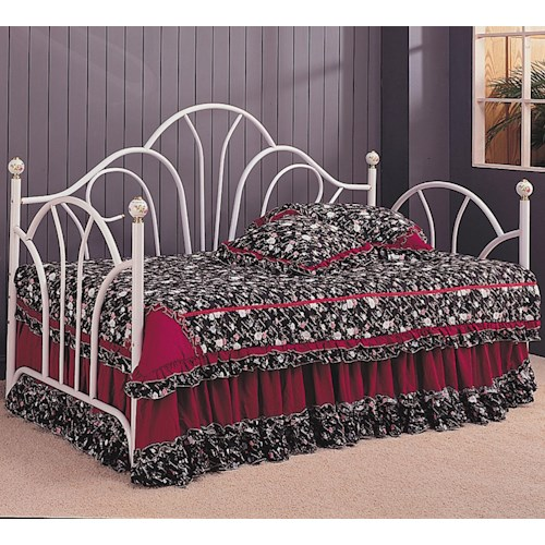 Coaster Daybeds by Coaster Traditional Twin Daybed with Metal Fan Back