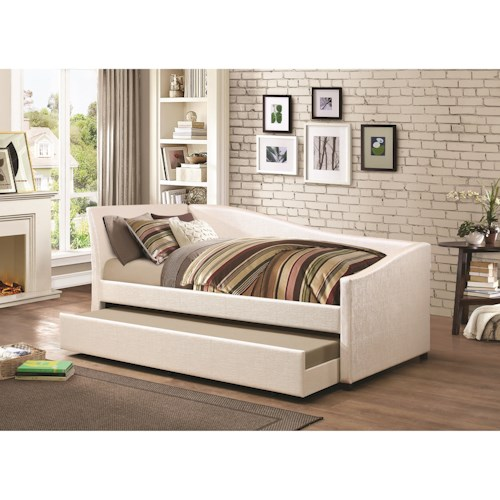 Coaster Daybeds By Coaster Twin Daybed With Upholstered