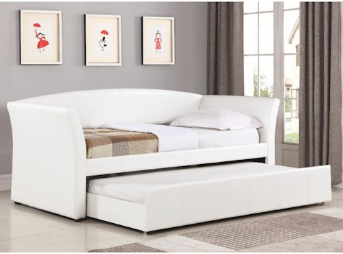 Coaster Daybeds by Coaster Upholstered Daybed with Trundle