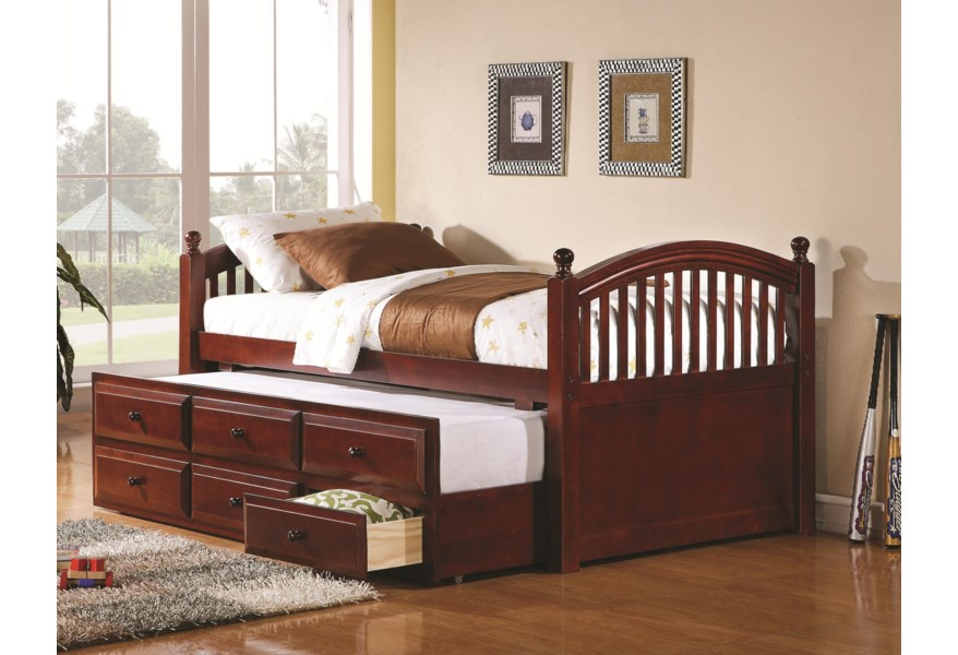 Daybeds by Coaster Captain\'s Daybed with Trundle and Storage Drawers by  Coaster at Standard Furniture