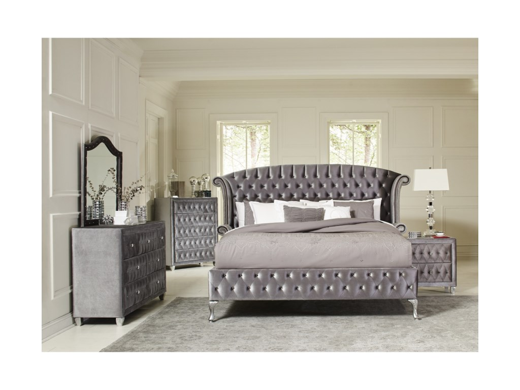 Coaster Deanna Queen Bedroom Group - Dunk & Bright Furniture ...