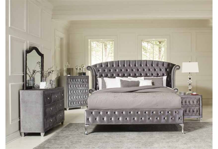 Coaster Deanna 7pc Queen Bedroom Group Value City Furniture Bedroom Groups