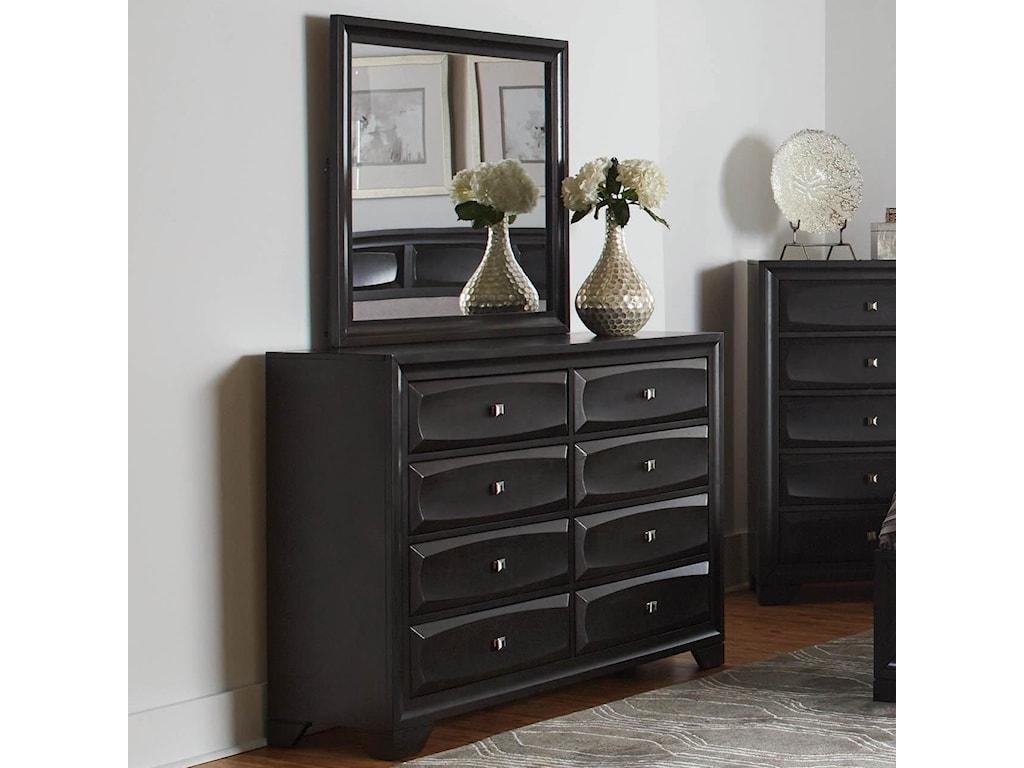 Coaster Decker Transitional 8 Drawer Dresser And Mirror Value City