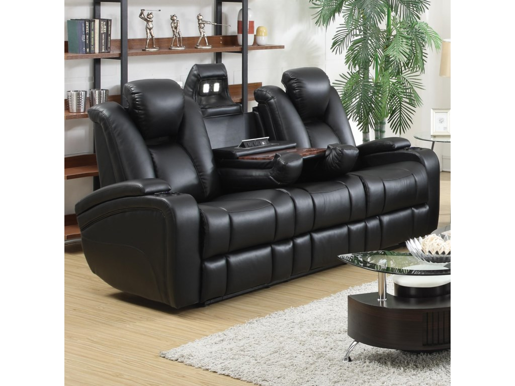 Coaster DelangePower Sofa