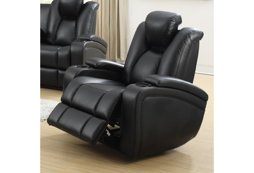 Super Delange Power Recliner With Adjustable Headrest Storage In Armrests By Coaster At Dream Home Interiors Creativecarmelina Interior Chair Design Creativecarmelinacom