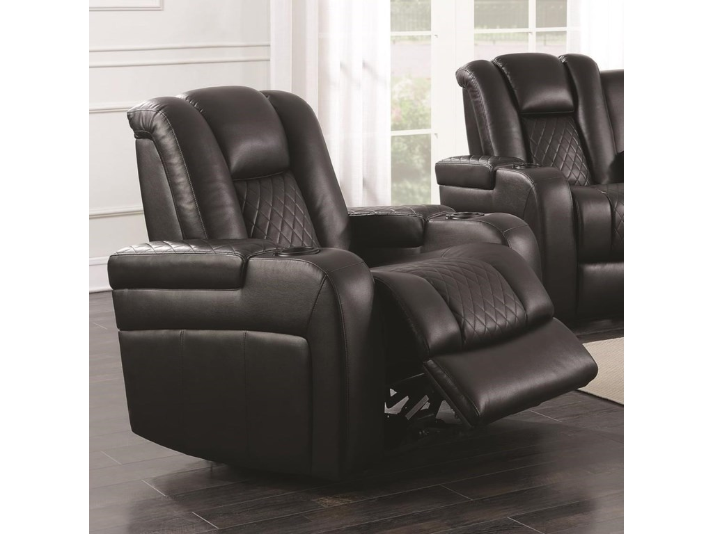 Coaster Delangelo 602303p Casual Power Recliner With Cup Holders