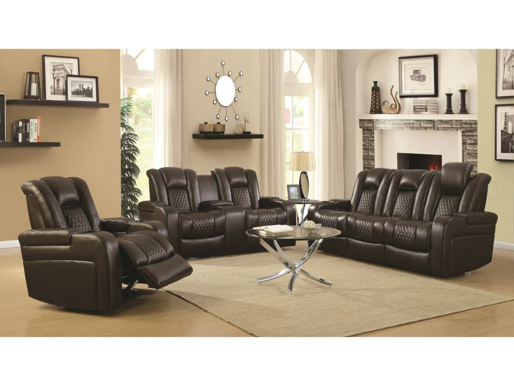 Coaster DelangeloReclining Living Room Group