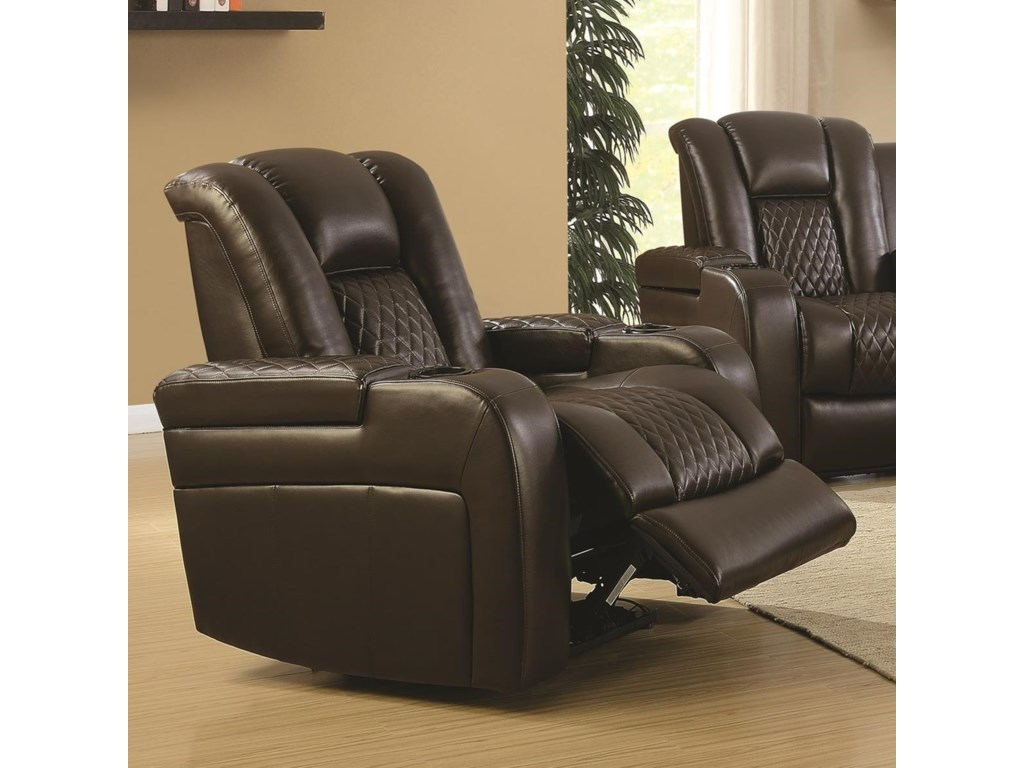 Coaster Delangelo 602306p Casual Power Recliner With Cup Holders