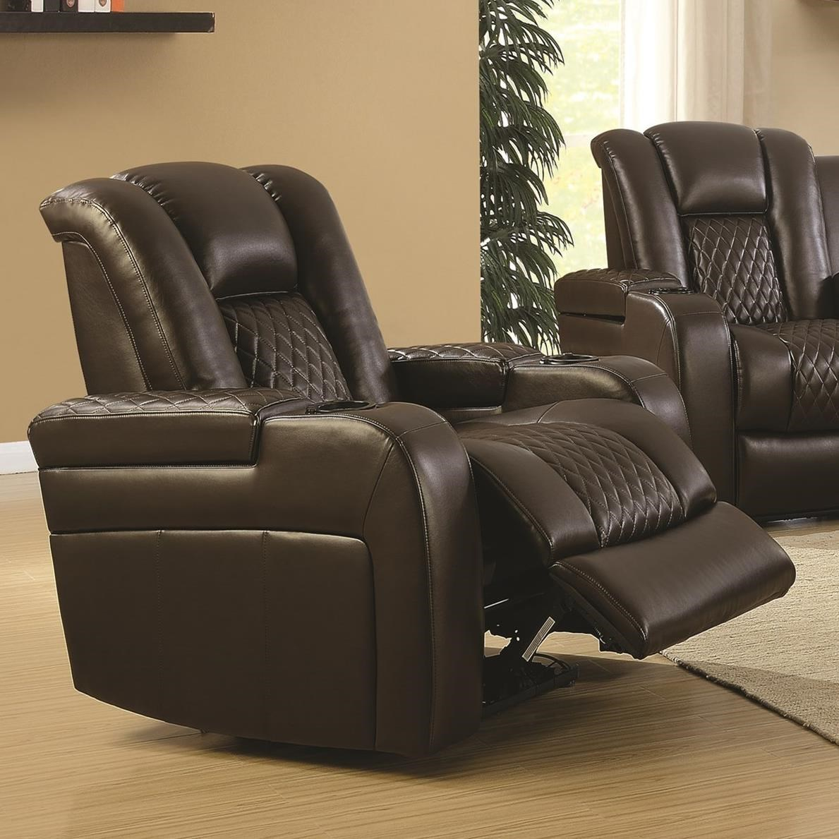 Exceptionnel Coaster Delangelo Casual Power Recliner With Cup Holders, Storage Console  And USB Port