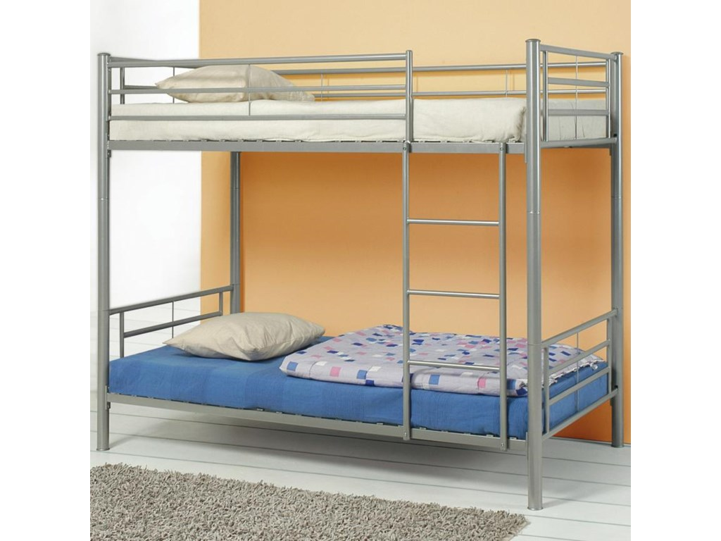 Coaster Denley Metal Twin Over Twin Bunk Bed Value City Furniture