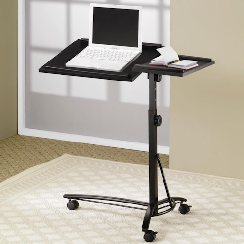 Coaster Desks Laptop Computer Stand with Adjustable Swivel Top and Casters