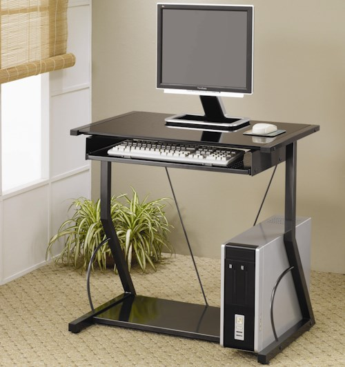 Coaster   Contemporary Computer Desk with Keyboard Tray