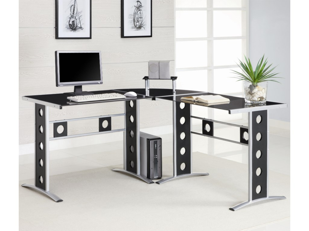 Coaster  L Shape Desk