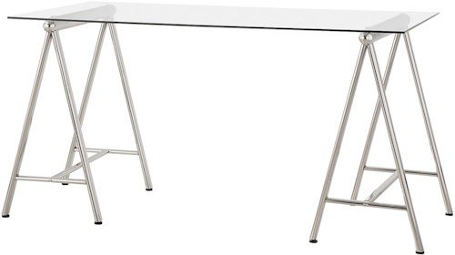 Coaster   Writing Desk with Tempered Glass Top