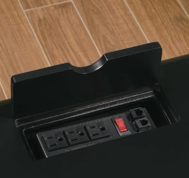 Hidden Power Outlet in Desk Top